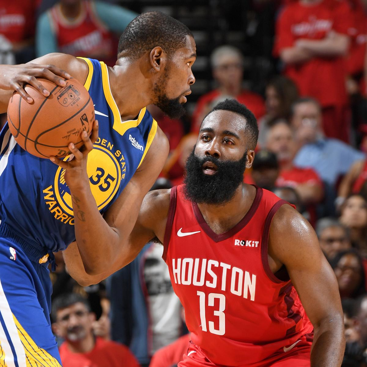 Rockets Vs Warriors Harden: Highlights: Watch Kevin Durant, James Harden Duel In