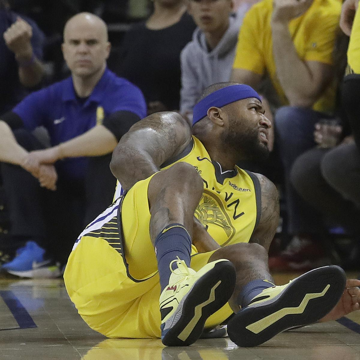 cfb8906d2bb Golden State Warriors coach Steve Kerr told reporters DeMarcus Cousins  could return at some point during