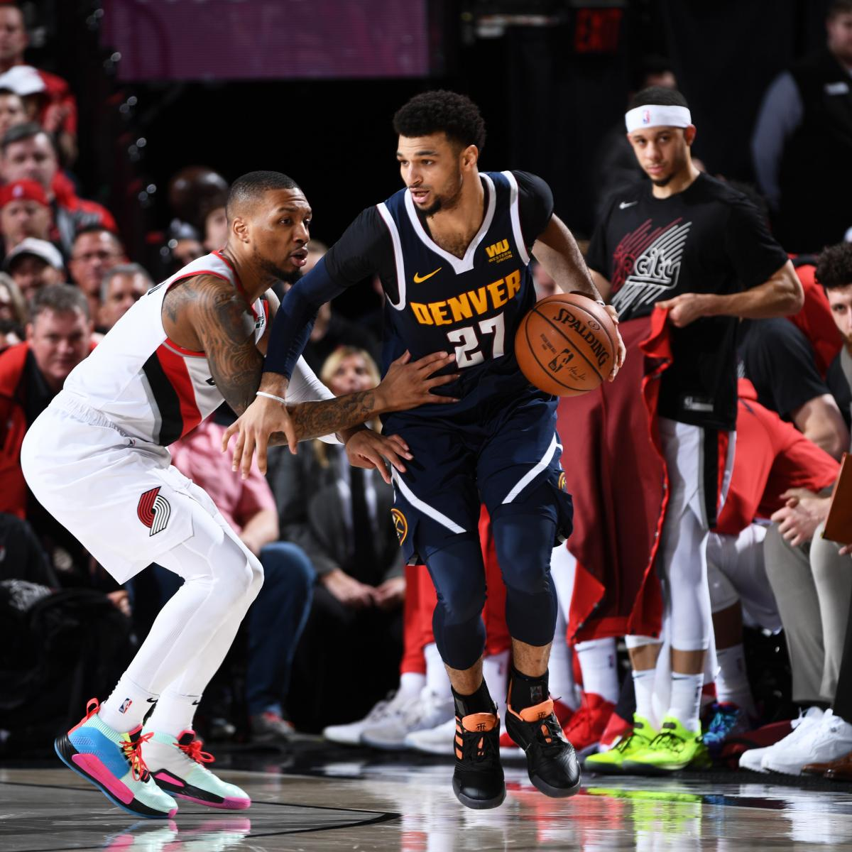 The Denver Nuggets tied their second-round playoff series against the Portland Trail Blazers at two games apiece with a 116-112 victory in Sunday's Game 4 at Moda Center...
