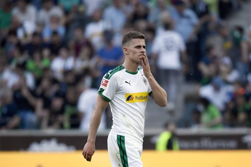 5a6f66c5770 Moenchengladbach s Thorgan Hazard reacts during the German first division  Bundesliga football match Borussia Moenchengladbach v RB