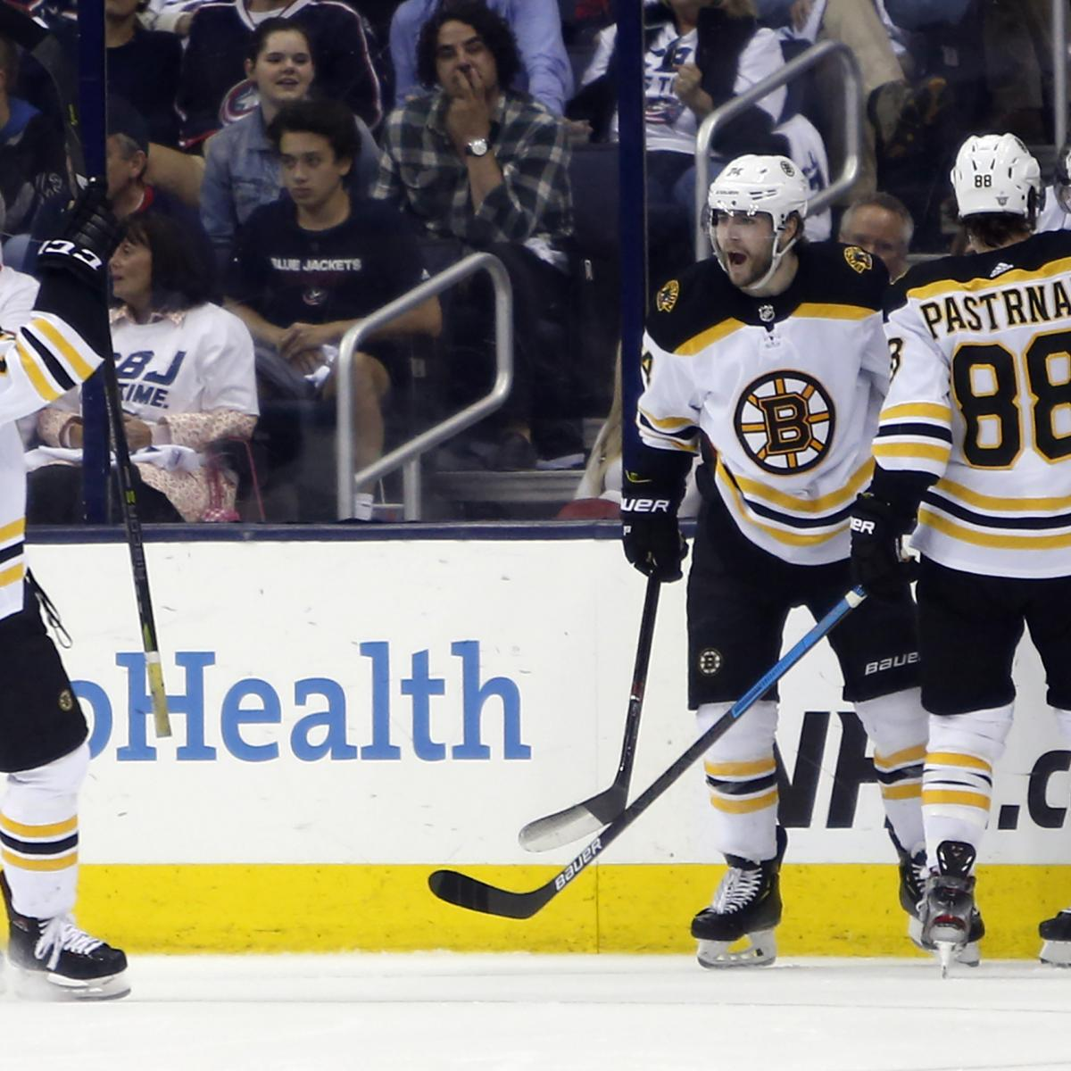 David Krejci, Bruins Eliminate Blue Jackets With 3-0 Game