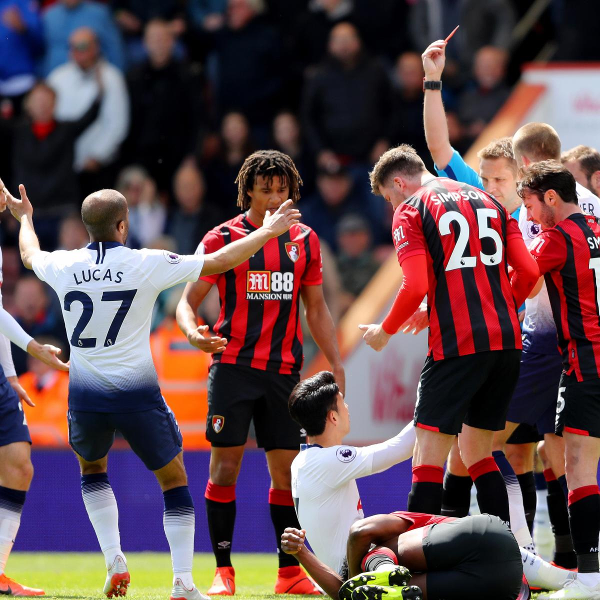 Tottenham To Appeal Heung-Min Son Red Card Against