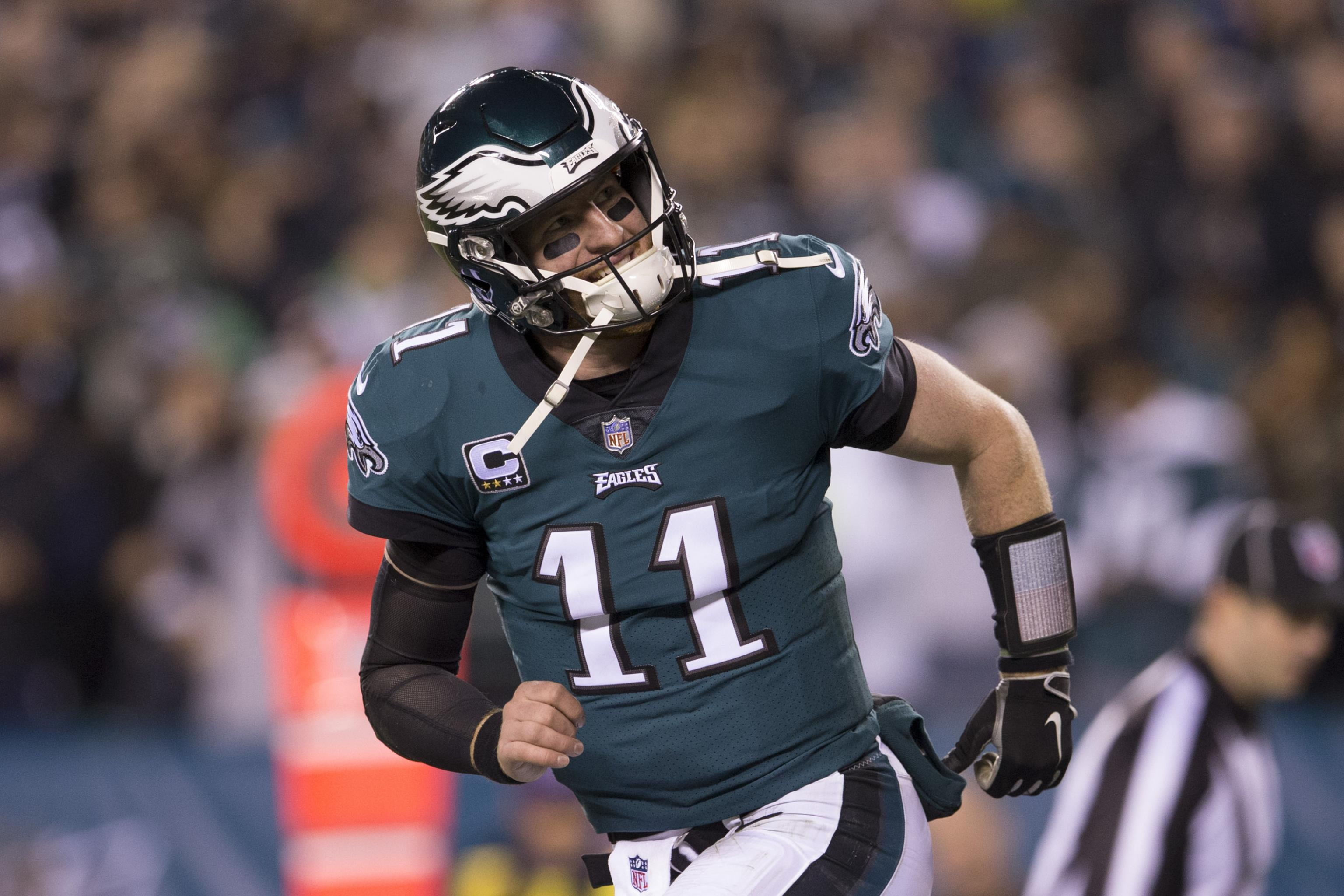 official photos 654de 3714b Carson Wentz, Eagles Agree to Historic 4-Year Contract Worth ...