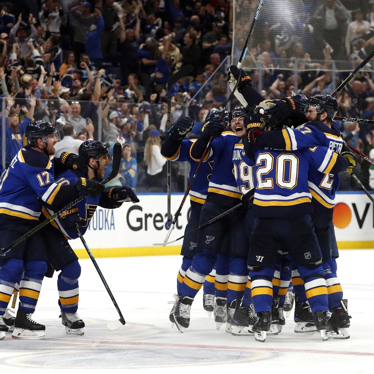 NHL Playoffs 2019: Updated Eastern, Western Conference