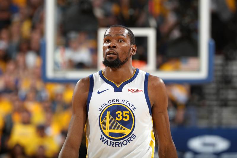 7eaa6f0be920 Kevin Durant  In Good Spirits  After Calf Injury