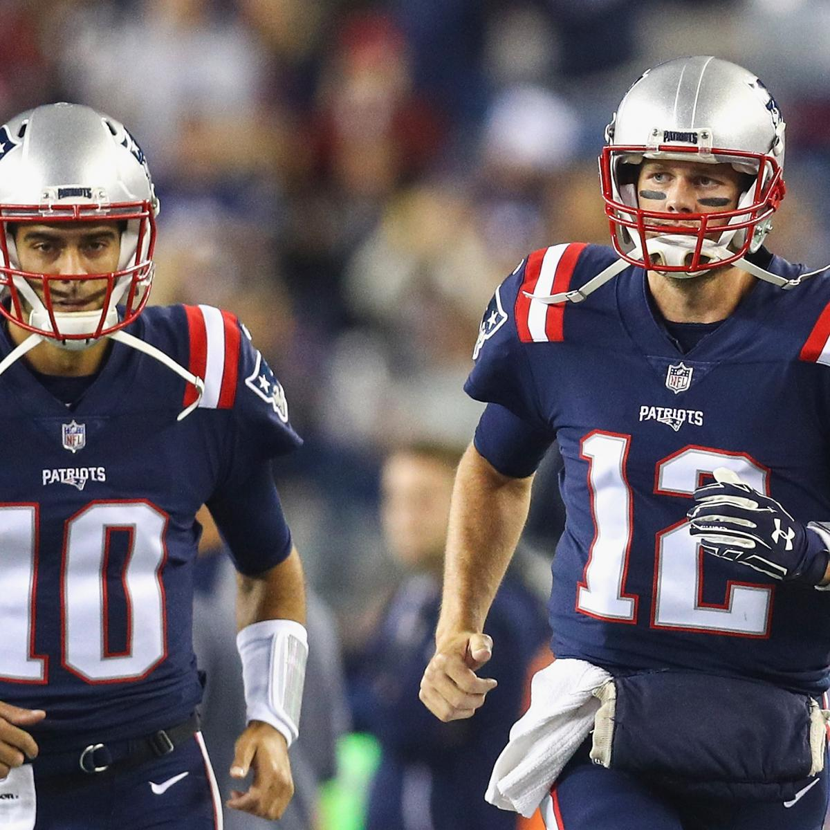 Jimmy Garoppolo and Tom Brady haven't been teammates for nearly two years, but the San Francisco 49ers quarterback is still learning from the future Hall of Famer...