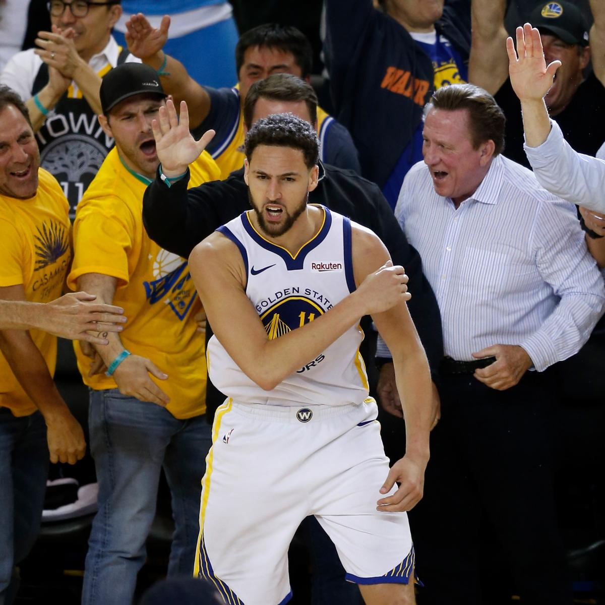 Warriors Come Out To Play Bleacher Report: NBA: No Evidence Klay Thompson Stepped Out Near End Of