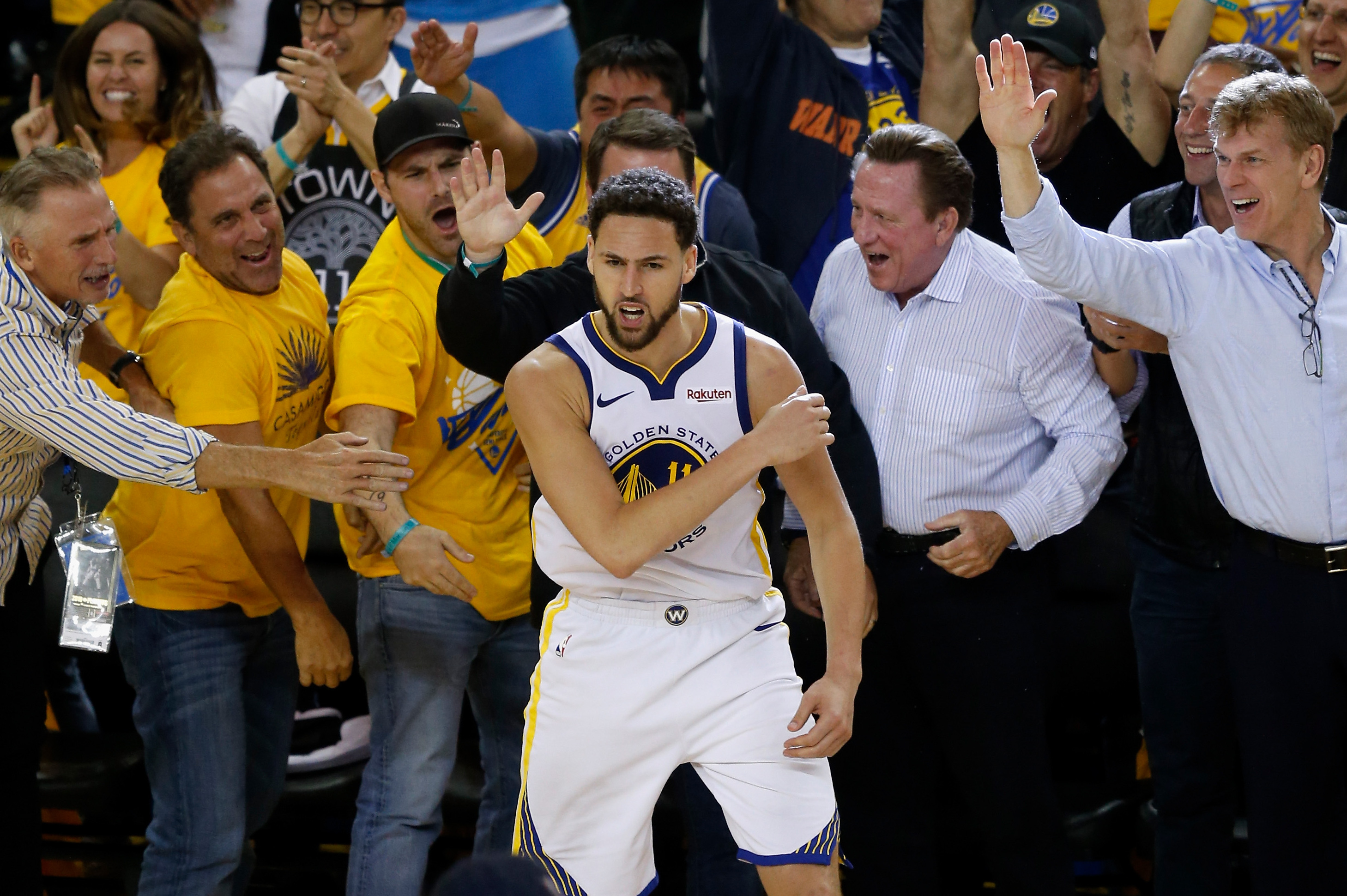 f468472ae0b6 NBA  No Evidence Klay Thompson Stepped out Near End of Warriors-Rockets  Game 5