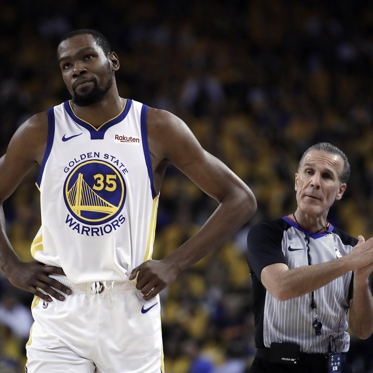 """Golden State Warriors coach Steve Kerr said the team expects Kevin Durant to return if it advances to the Western Conference Finals. """"I think it's good news."""