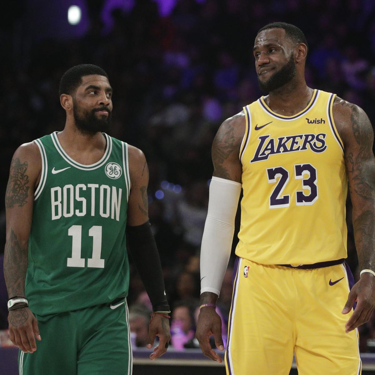 """ESPN NBA analyst Brian Windhorst said Friday he's starting to get the sense Los Angeles Lakers forward LeBron James and Boston Celtics guard Kyrie Irving """"kinda need each other..."""
