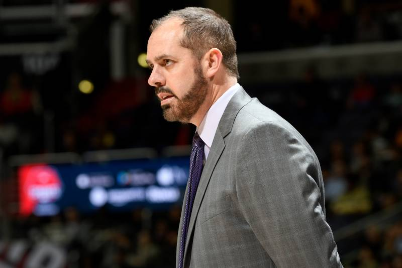 WASHINGTON, DC - DECEMBER 23:  Head coach Frank Vogel of the Orlando Magic watches the game against the Washington Wizards at Capital One Arena on December 23, 2017 in Washington, DC. NOTE TO USER: User expressly acknowledges and agrees that, by downloading and or using this photograph, User is consenting to the terms and conditions of the Getty Images License Agreement.  (Photo by G Fiume/Getty Images)