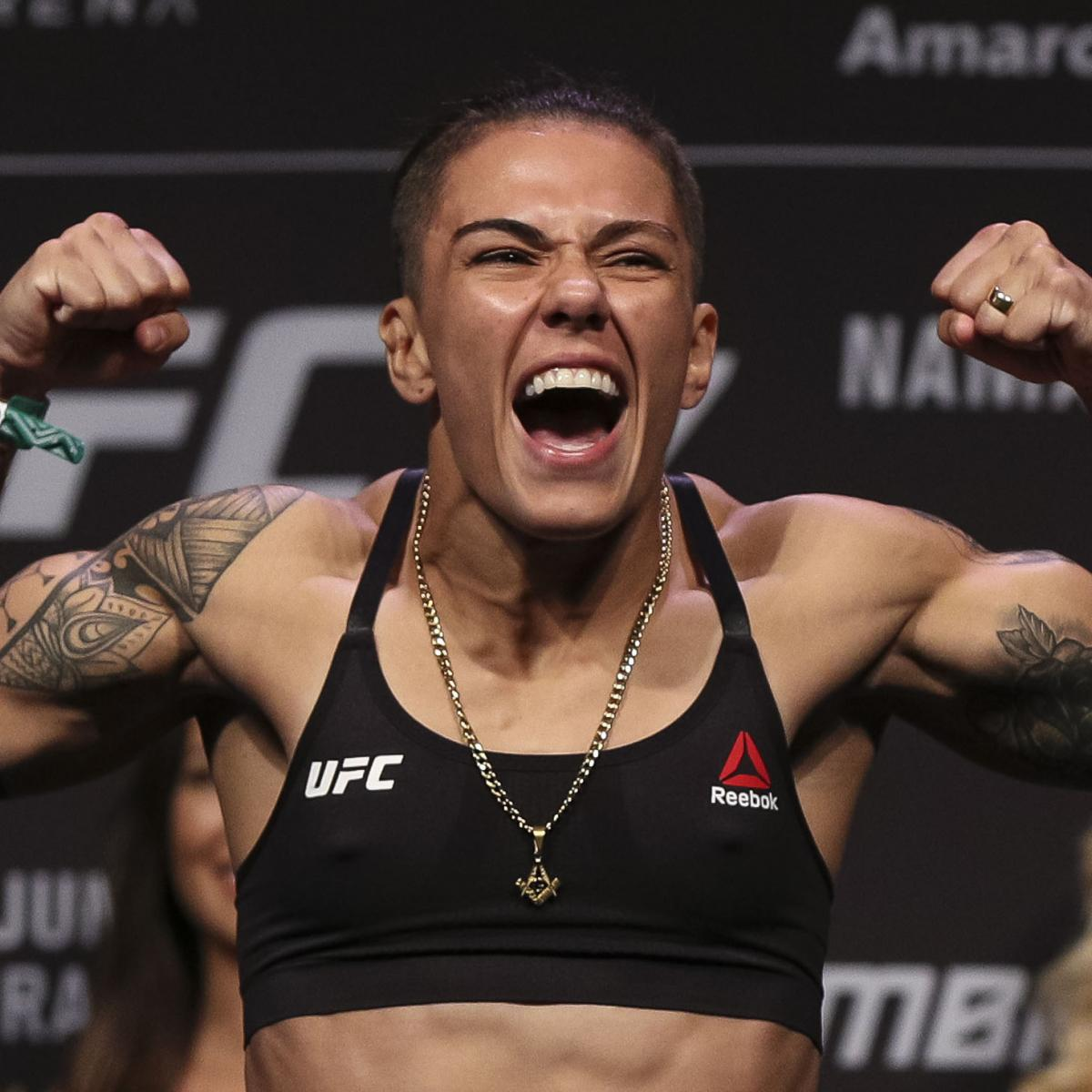 """Jessica Andrade joined the ranks of UFC champions with a thunderous second-round knockout win over """"Thug"""" Rose Namajunas to become the women's strawweight champion in the main event of UFC 237 from Rio de Janeiro on Saturday ..."""