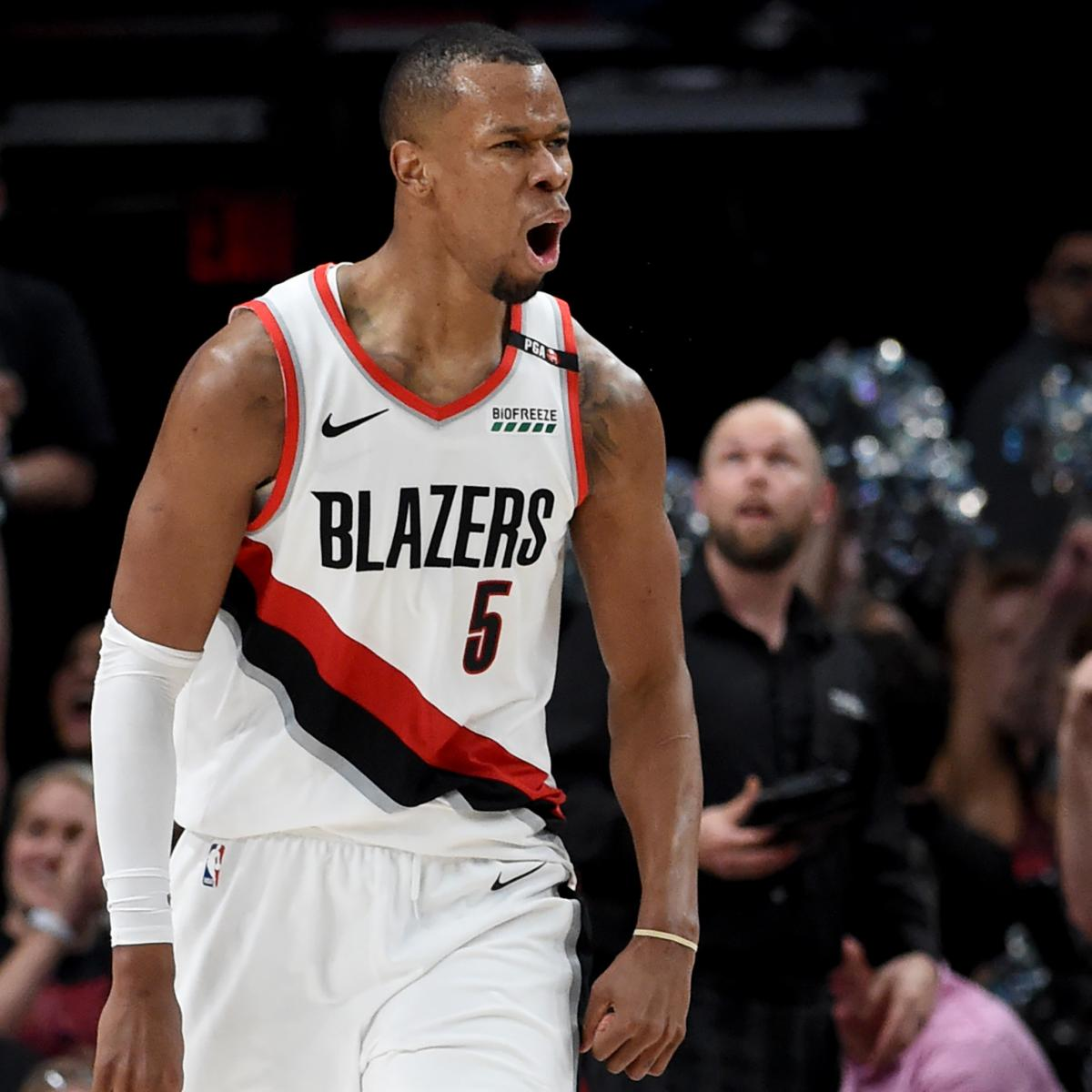 Blazers Injury Report: Blazers' Rodney Hood Helped Off With Knee Injury During
