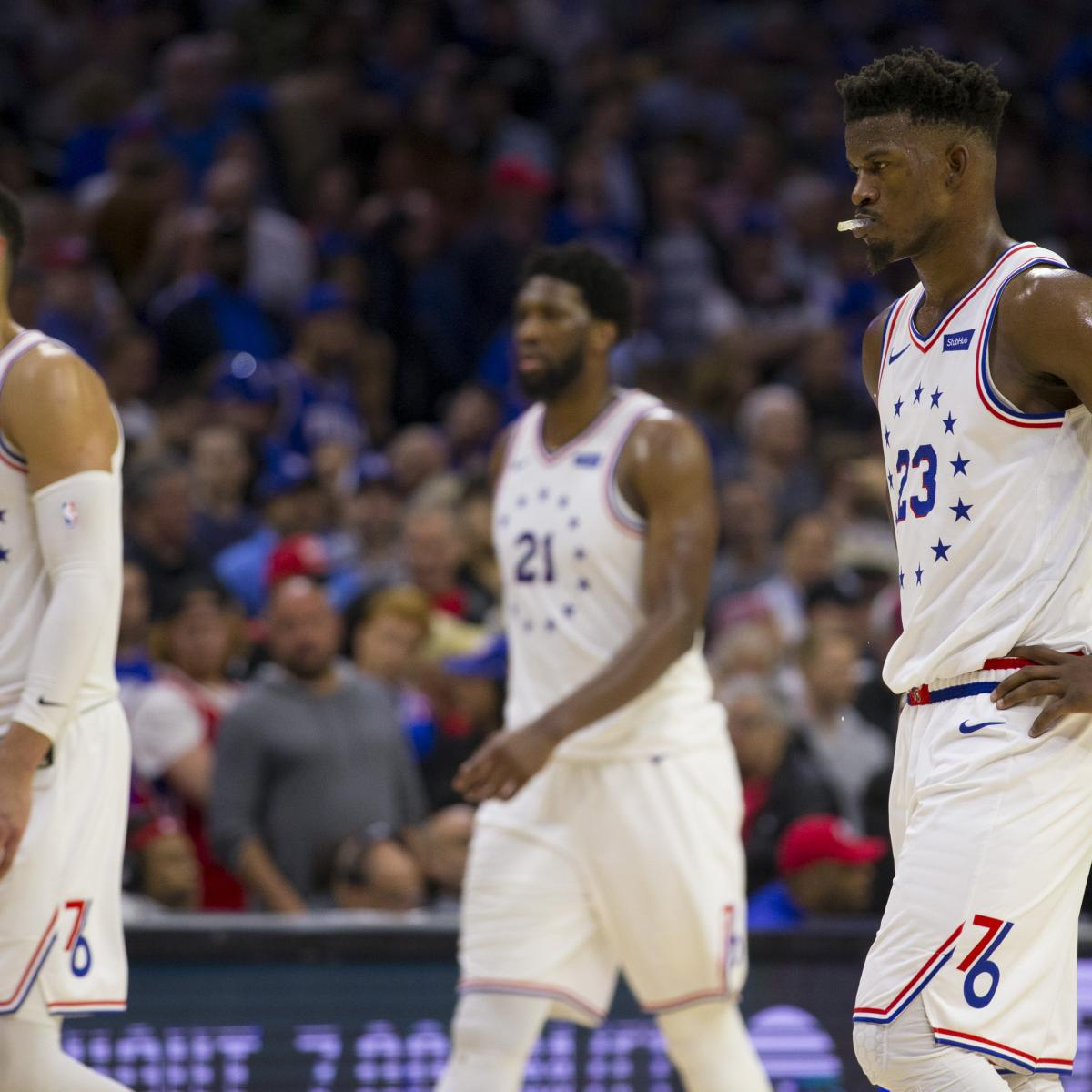 The Philadelphia 76ers players were emotional after their Game 7 loss to the Toronto Raptors , but Jimmy Butler still showed a lot of support to his teammates. The wing had high praise when asked about Ben Simmons and Joel Embiid...