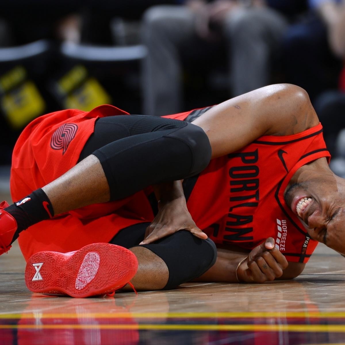 Blazers' Rodney Hood Day To Day With Knee Injury Ahead Of