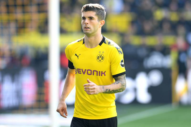 a5d7bb0c DORTMUND, GERMANY - MAY 11: Christian Pulisic of Borussia Dortmund looks on  during the