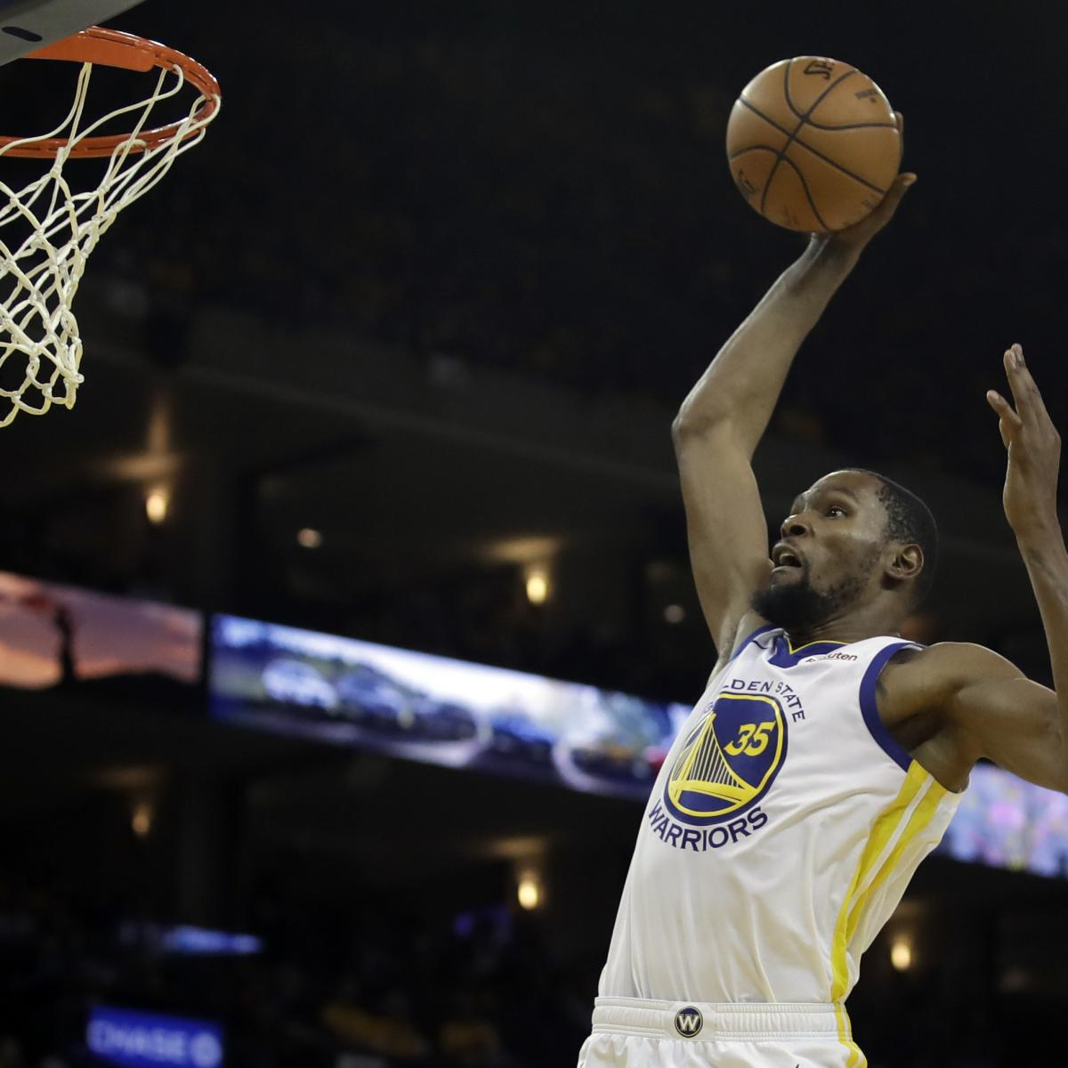 Blazers Injury Report: Report: Warriors' Kevin Durant Ruled Out For Game 2 Vs