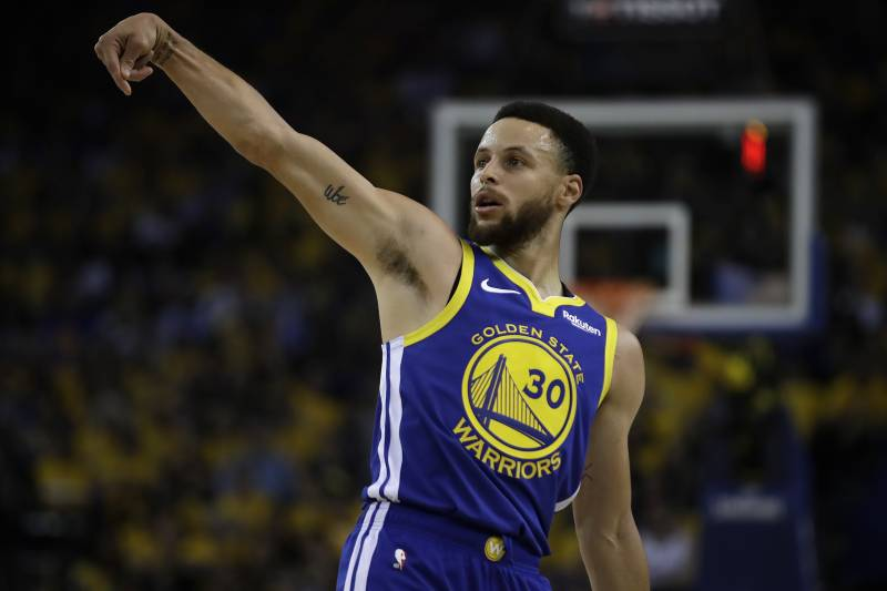 5834457e9dc6 Golden State Warriors  Stephen Curry watches his shot against the Los  Angeles Clippers in the