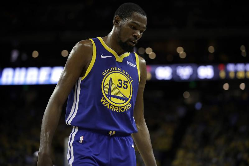bc678df8 Golden State Warriors' Kevin Durant during the second half in Game 5 of a  first