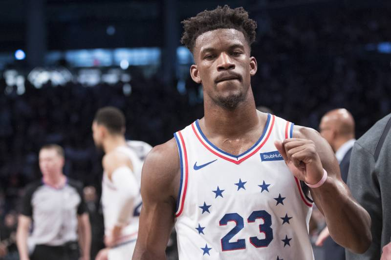 sale retailer 3fbd8 f33c2 Jimmy Butler Posts Thank You Message to 76ers, Fans amid ...