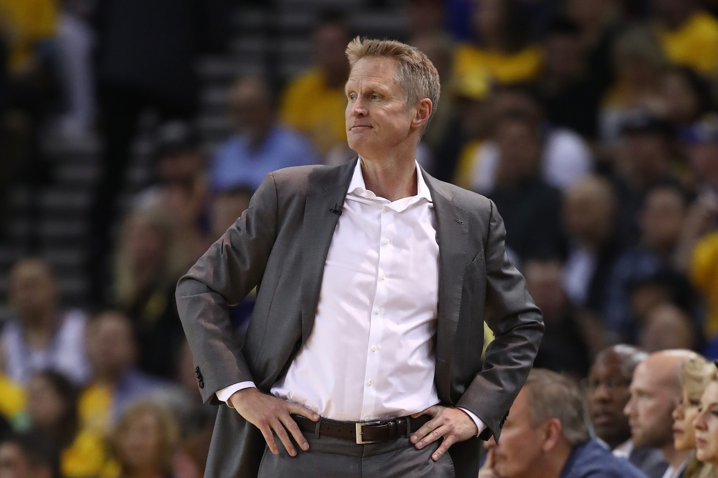 d93e23f6ce7b Steve Kerr Says Warriors  Stole  Game 2 vs. Trail Blazers   They Outplayed  Us