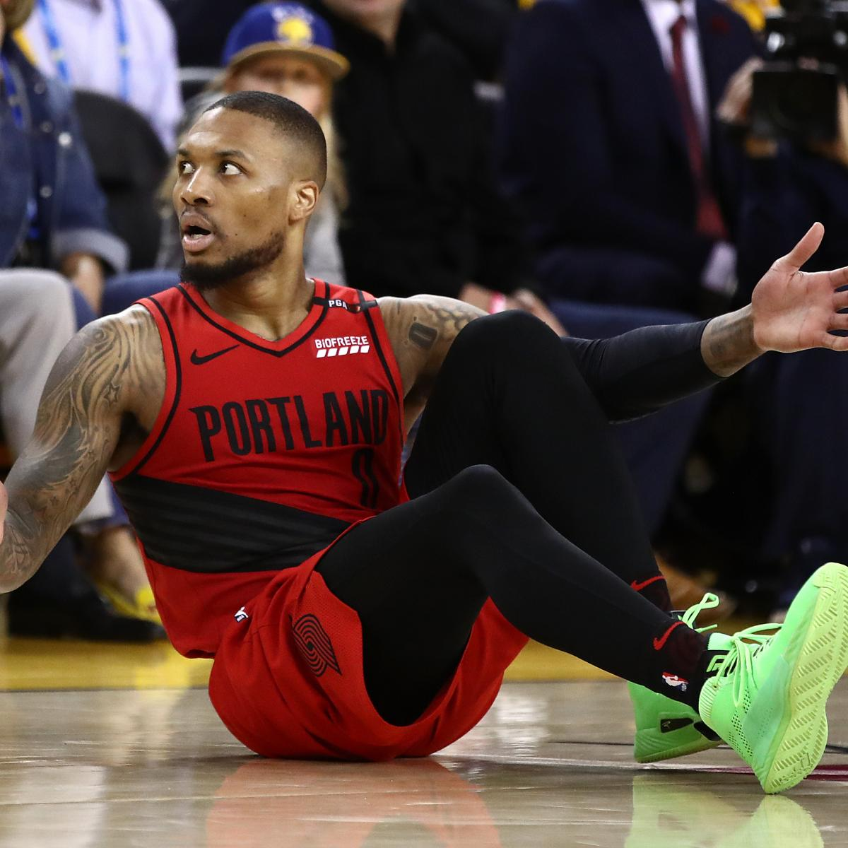 Portland Blazers Last Game: NBA: Andre Iguodala Didn't Foul Damian Lillard At End Of