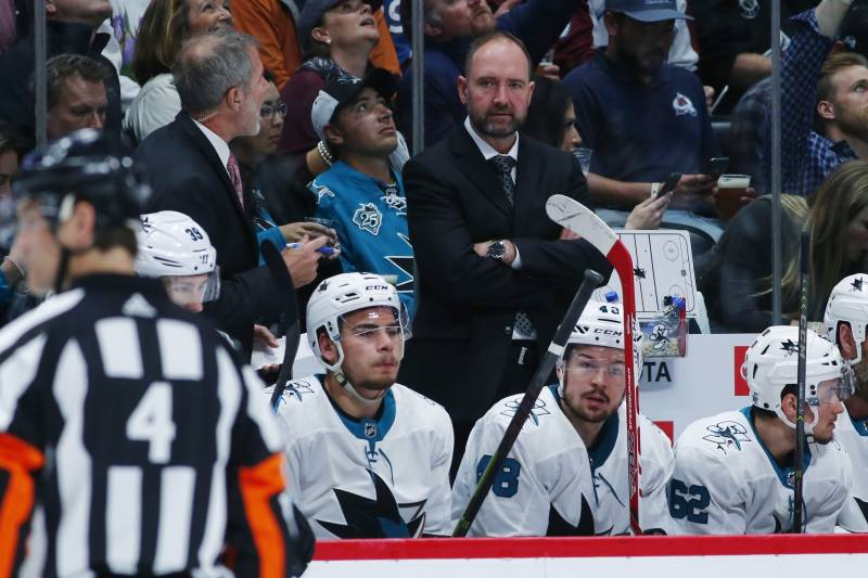 best sneakers 168ae f765b Sharks' Peter DeBoer Rips 'Ridiculous' Claims SJ Has Been ...