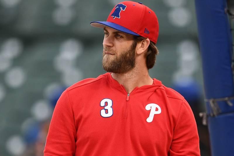 cheaper 73d8b 57567 Video: Phillies' Bryce Harper Trolls Cubs Fans by Throwing ...