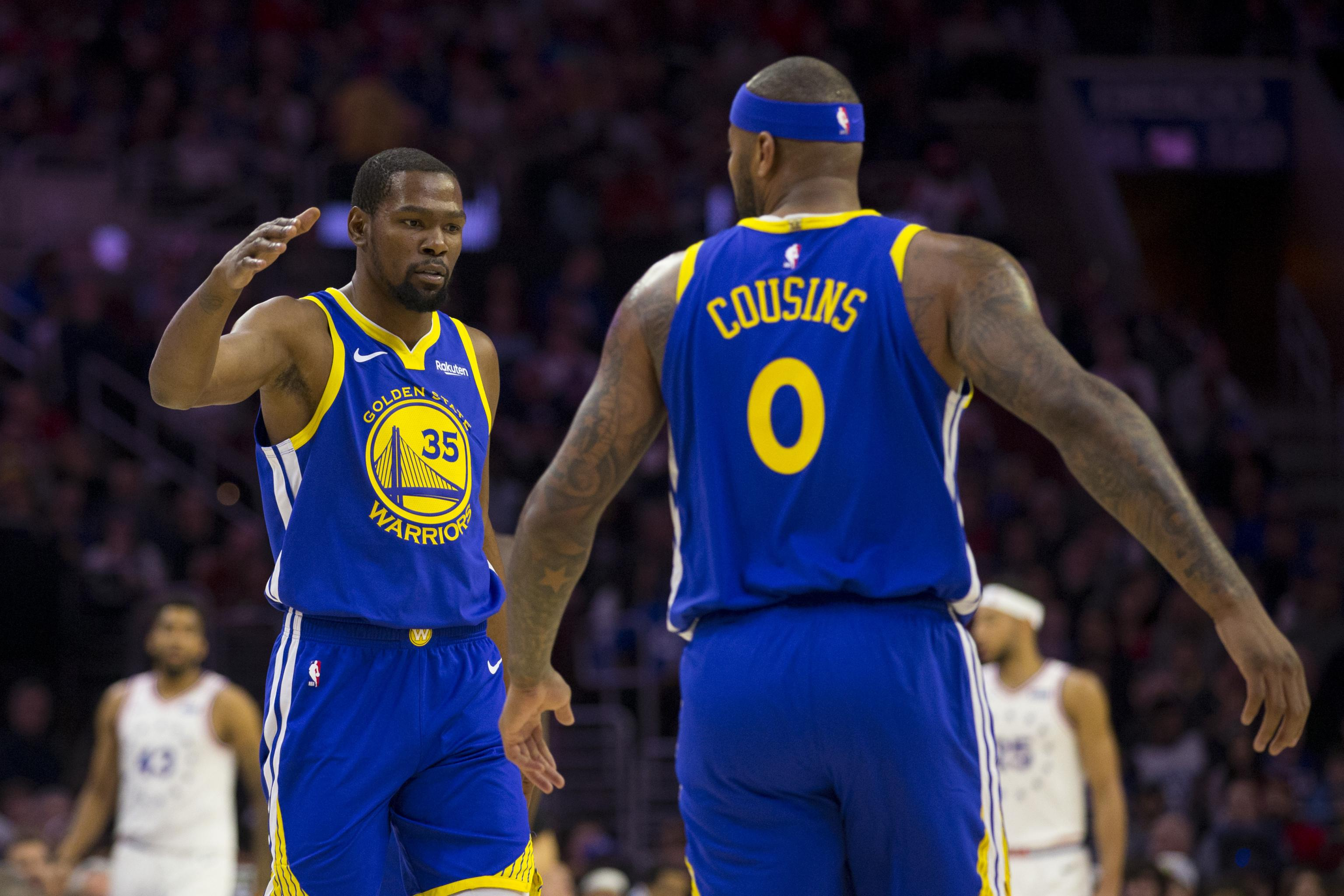 detailed look 7f9df ade17 Warriors Injury News: Kevin Durant, DeMarcus Cousins Both ...