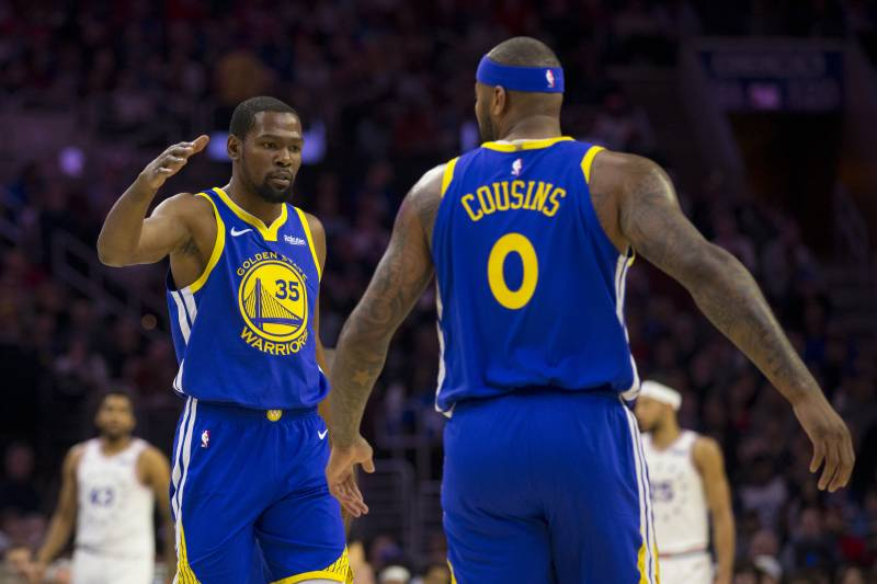 detailed look d79f2 a30c8 Warriors Injury News: Kevin Durant, DeMarcus Cousins Both ...