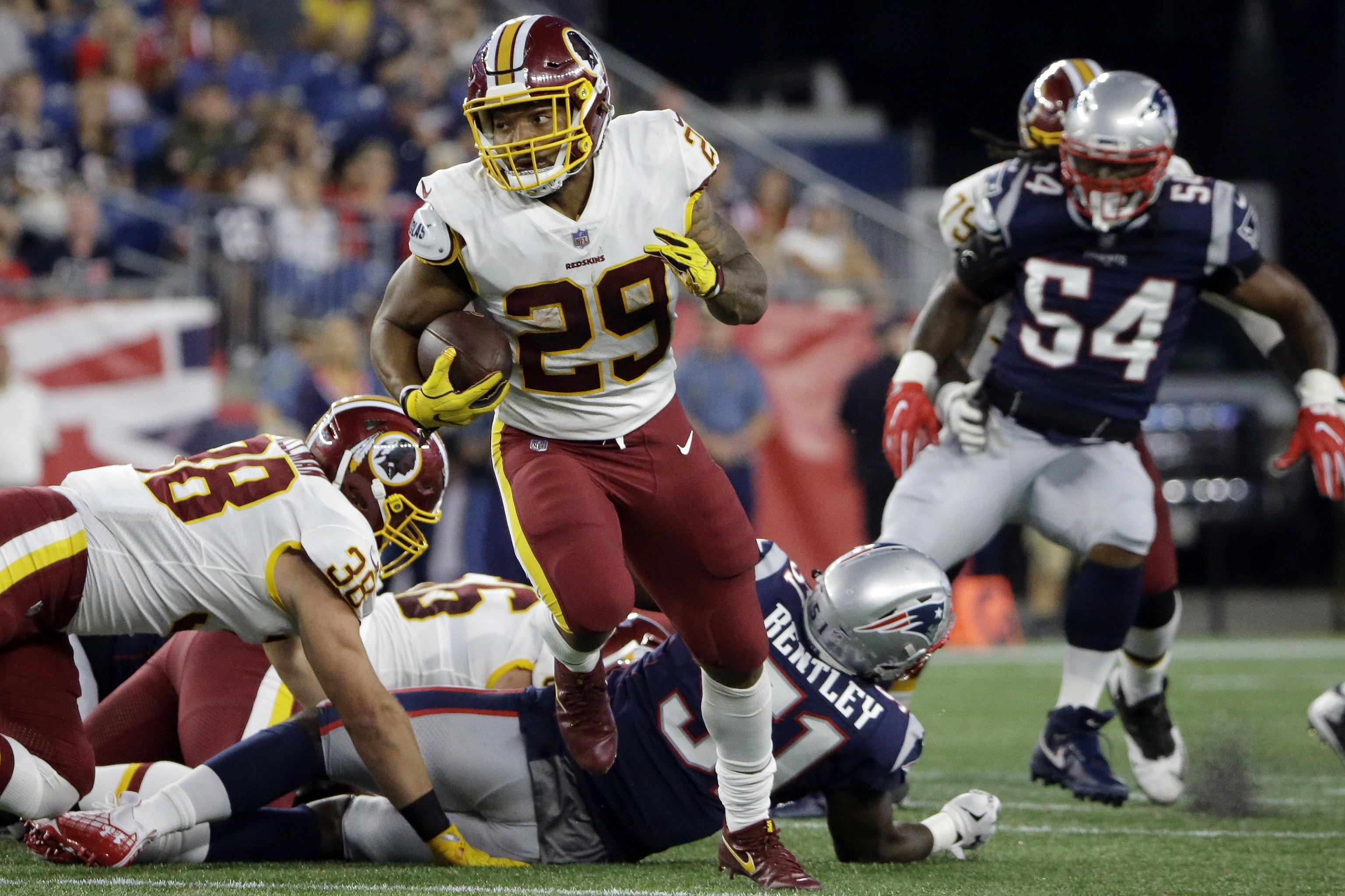 Report: Redskins' Derrius Guice Suffers Hamstring Injury; Questionable for Camp