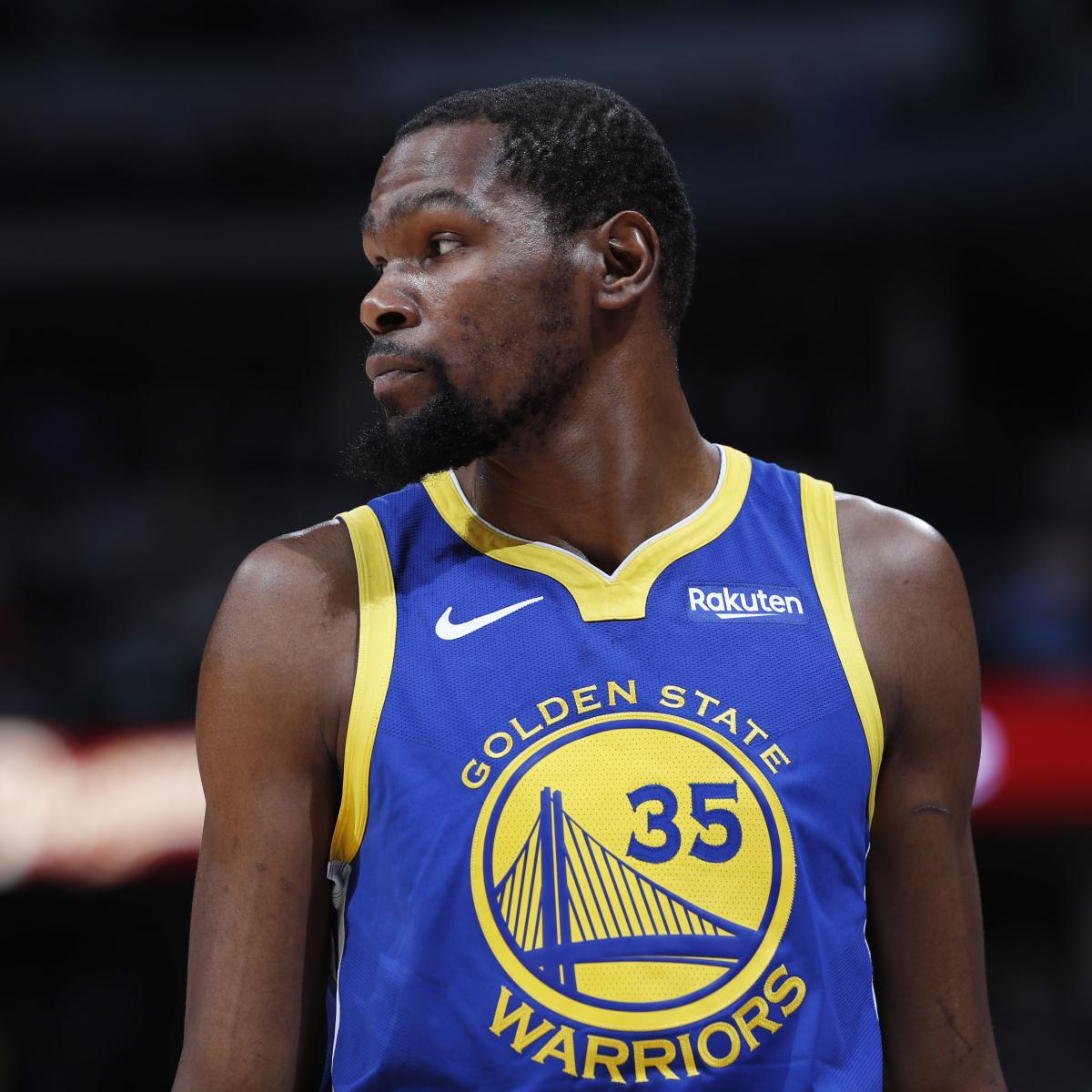 Warriors' Kevin Durant Out For 2019 NBA Finals Game 1 Vs