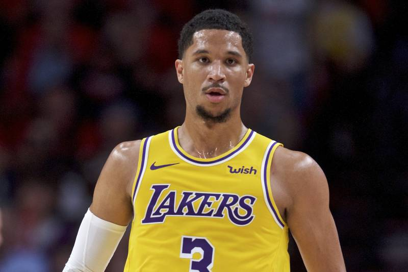 30f25738896 Los Angeles Lakers guard Josh Hart during the second half of an NBA  basketball game against