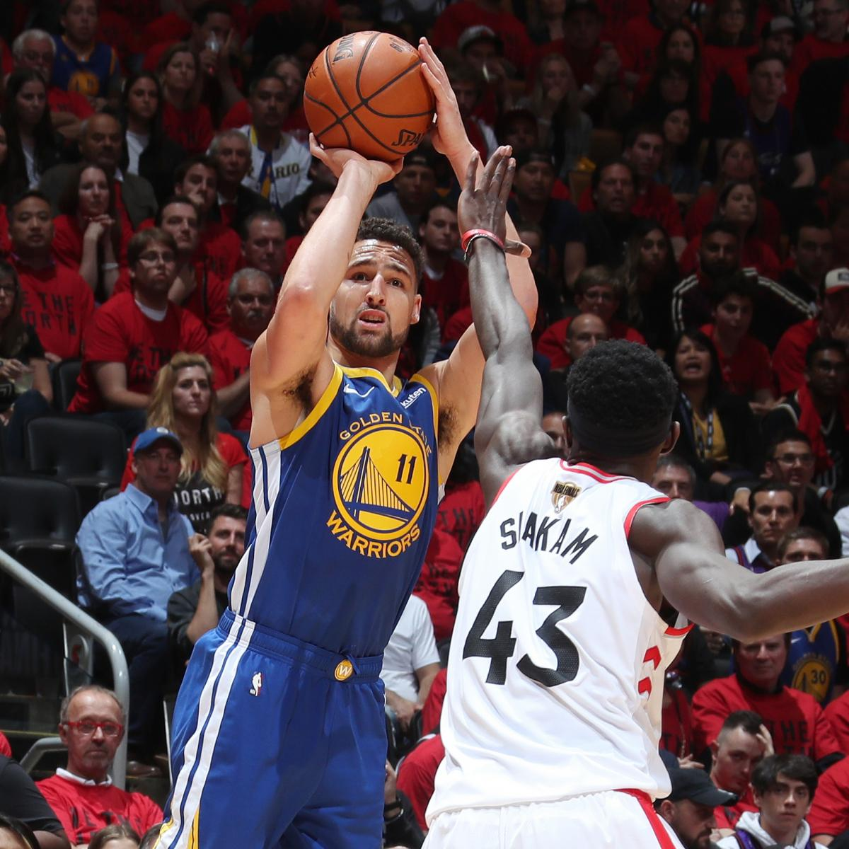 Stephen Curry's 23 Lead Warriors Past Kawhi Leonard, Raptors to Even Series at 1