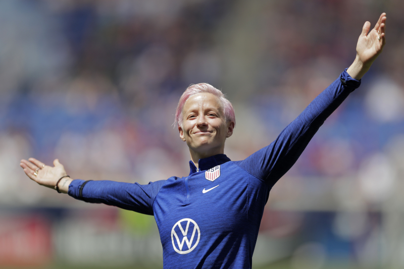 USA Star Megan Rapinoe Says France Is Favorite at 2019 Women's World Cup