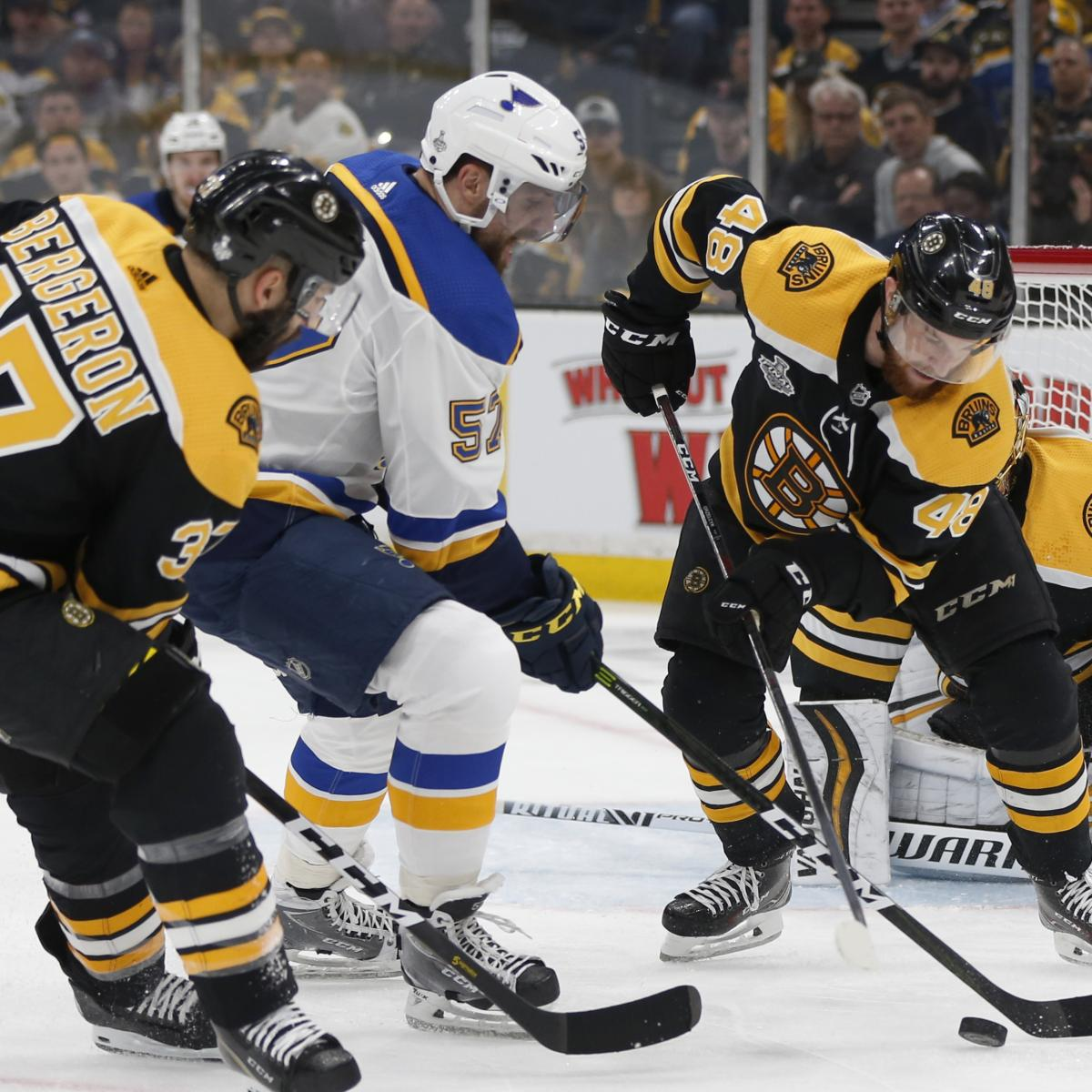 NHL Stanley Cup Final 2019: Blues Vs. Bruins Game 5 Odds