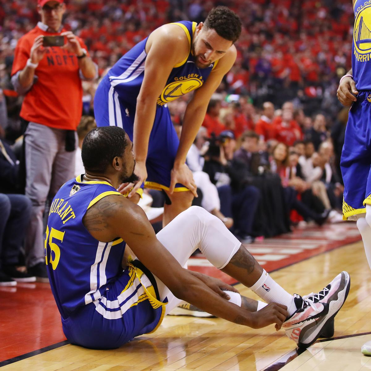 Video: Warriors' Kevin Durant Suffers Apparent Leg Injury
