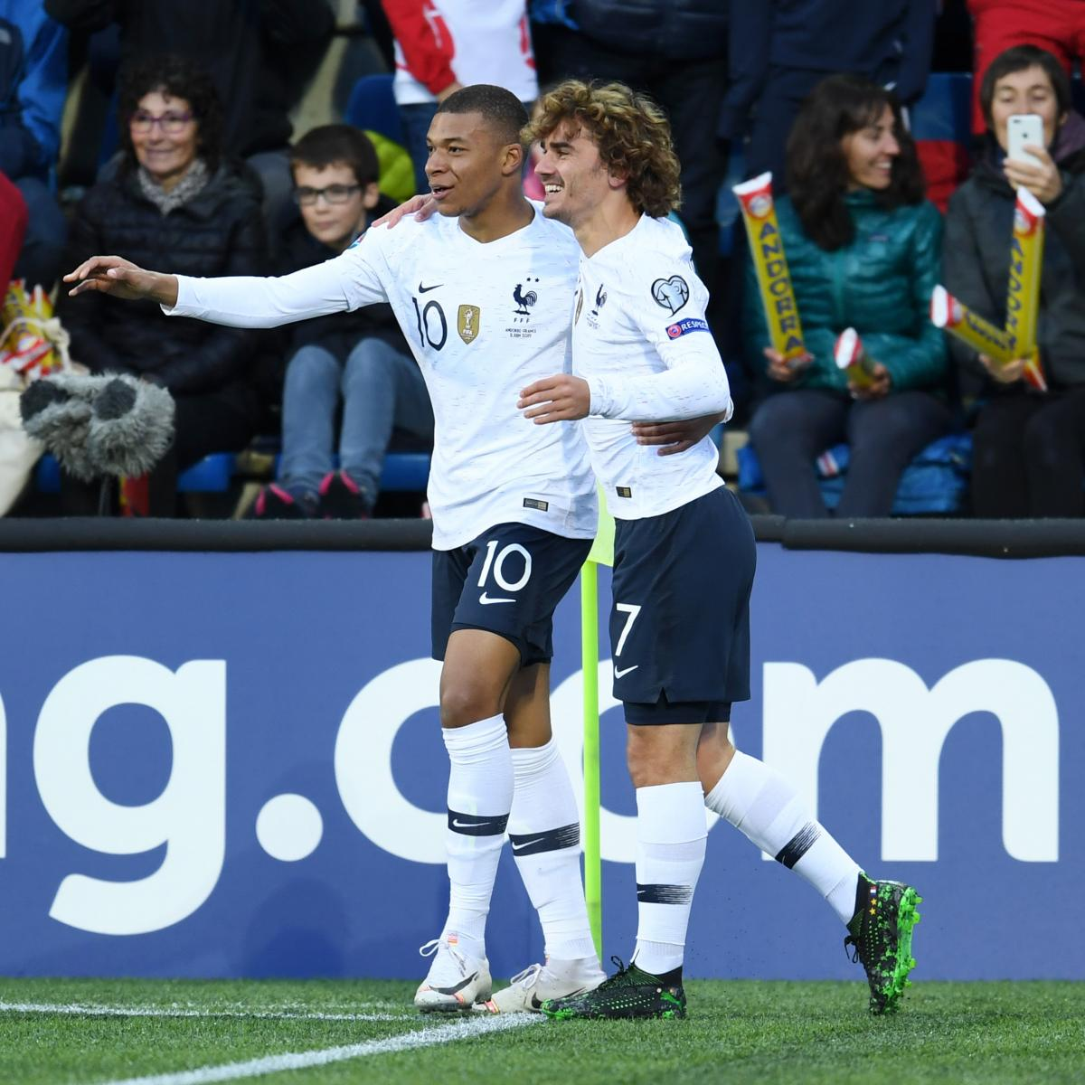 Kylian Mbappe Scores as France Beat Andorra 4-0 in 2020 Euro Qualifier