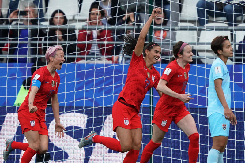 Alex Morgan Scores 5 Goals as USA Beat Thailand 13-0 in 2019 Women's World Cup
