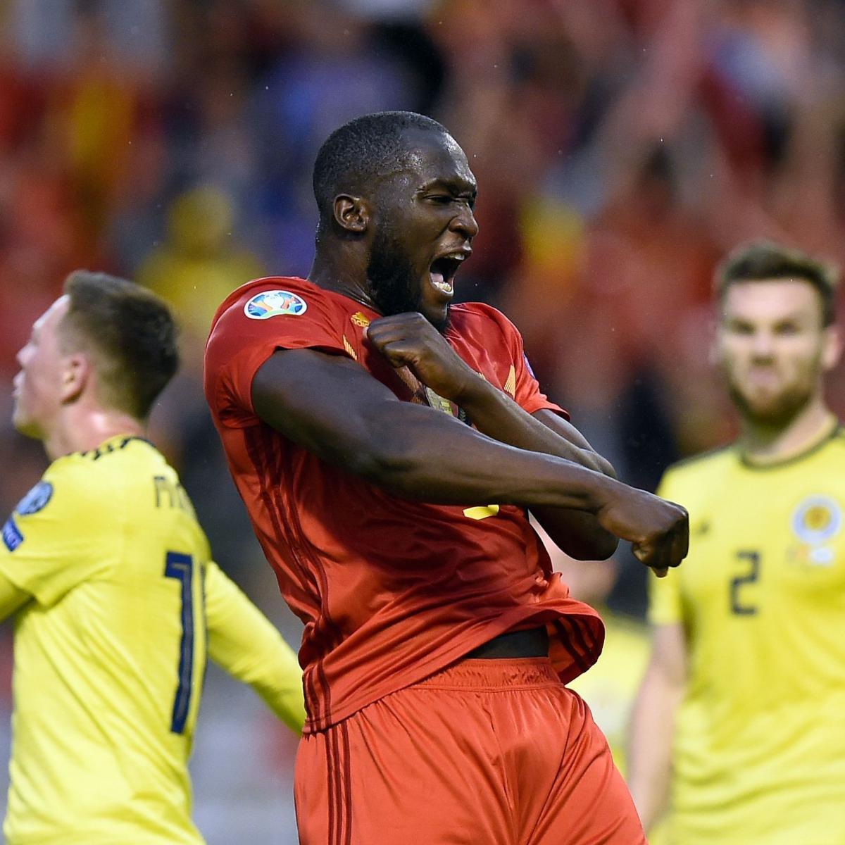 Romelu Lukaku Image 1: Romelu Lukaku Double Puts Belgium Past Scotland In 2020