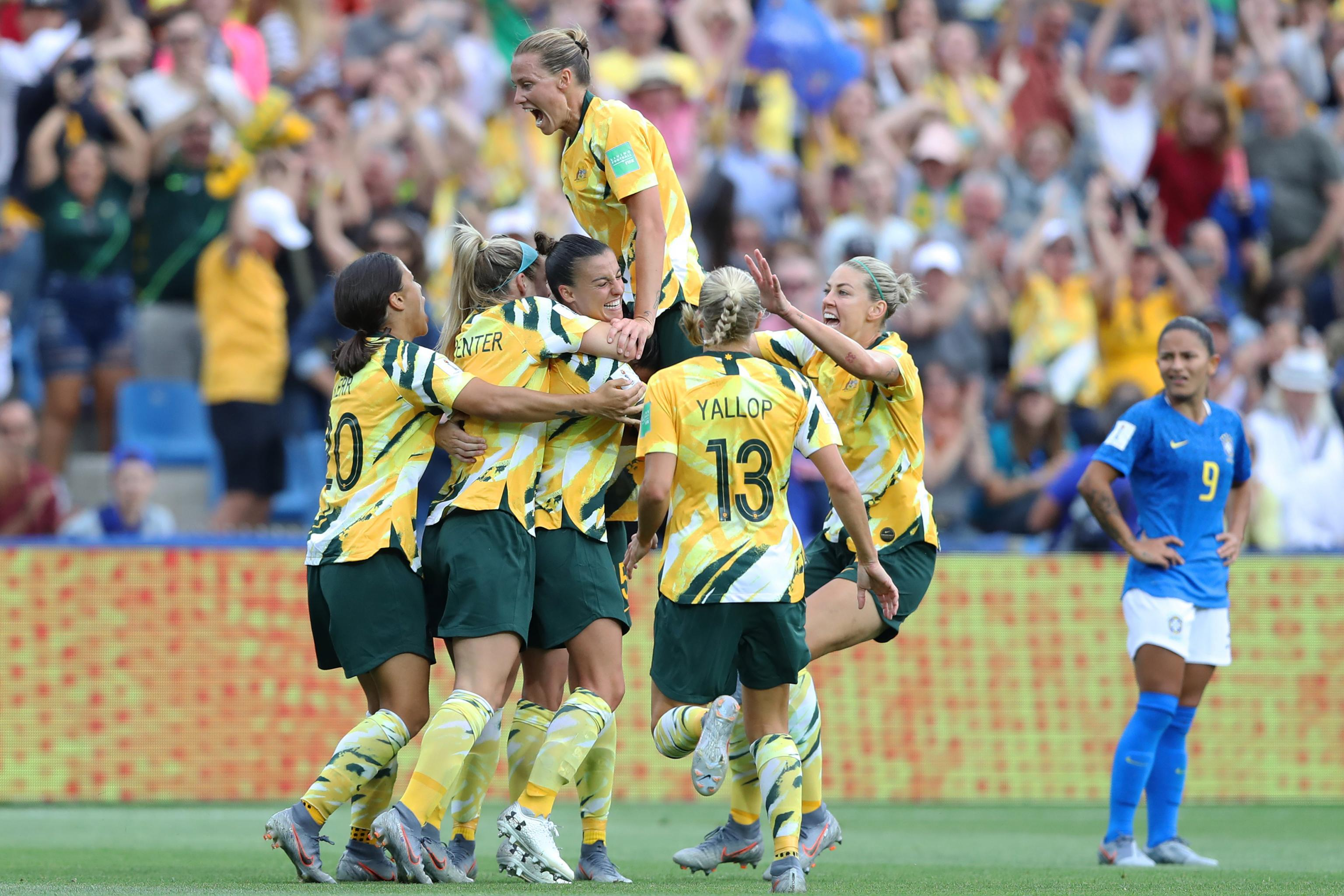 49ac53223eb Australia Complete Dramatic Comeback to Defeat Brazil at 2019 Women's World  Cup | Bleacher Report | Latest News, Videos and Highlights