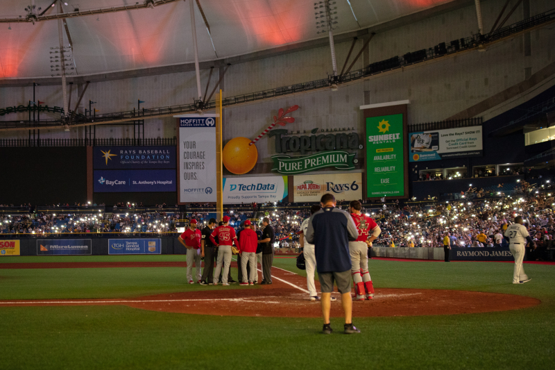 Video: Angels vs. Rays Delayed After Lights Go out at Tropicana Field