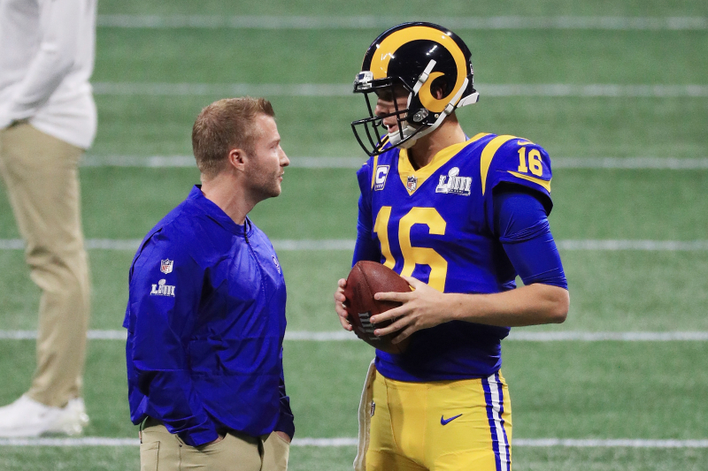 Rams HC Sean McVay Says There's '0% Chance' Jared Goff Doesn't Get New Contract