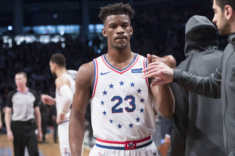 sports shoes 9d0a0 9b5bb Report: Jimmy Butler to Opt Out of 76ers Contract; Lakers ...