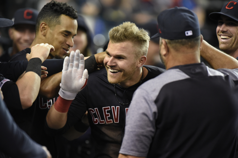 Video: Indians' Jake Bauers Blasts 2-Run HR to Complete Cycle vs. Tigers