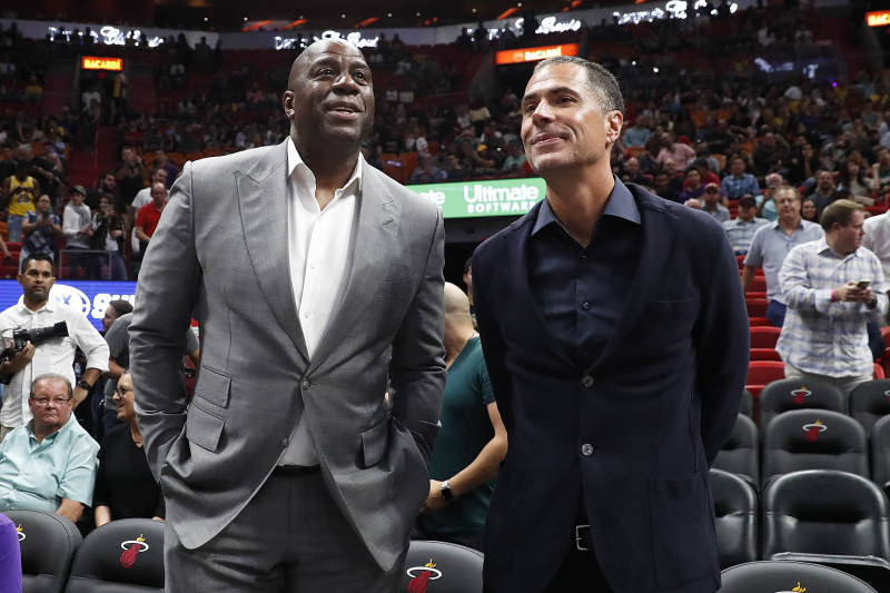 Magic Johnson Praises Lakers' Rob Pelinka on Twitter for Anthony Davis Trade