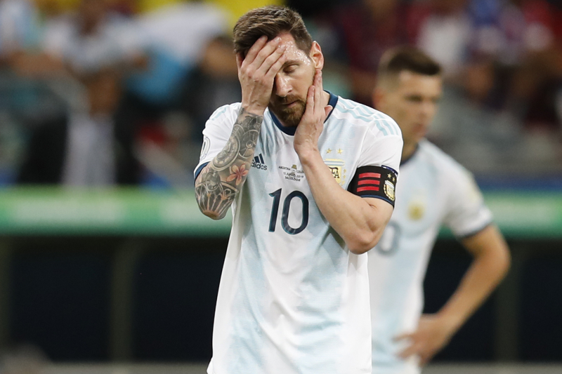 Lionel Messi, Argentina Fall to Colombia 2-0 in 2019 Copa America Opener