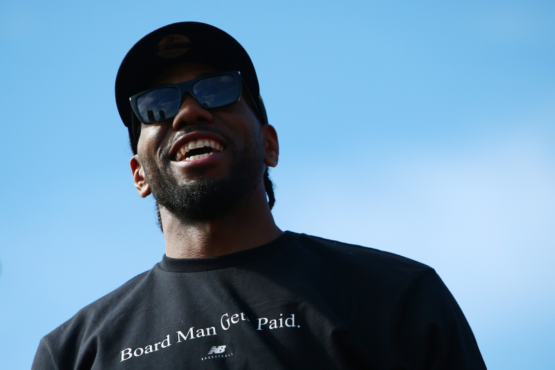 Video: Watch Kawhi Leonard Recreate Infamous Laugh During Raptors Victory Parade