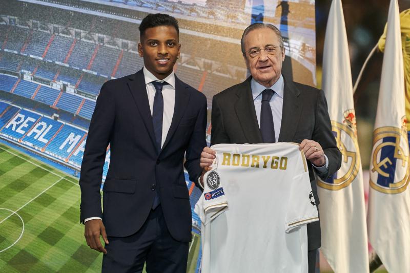 Florentino Perez Says Rodrygo Among 'Great Prodigies' at Real Madrid Unveiling