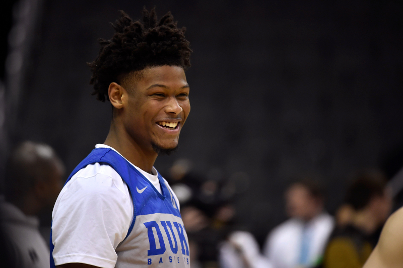 Cam Reddish Says Not 'Eating Right' Contributed to Average Performance at Duke